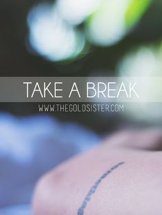 Don't forget to give yourself a break when you need it! Click through to the blog for tips on how to recharge when you need to >>