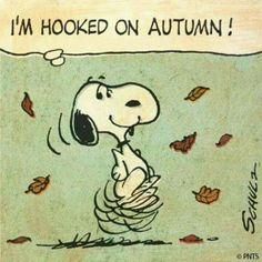 Snoopy ❤ Autumn                                                                                                                                                                                  More