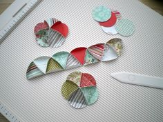 Blush Crafts: How to make paper baubles  DIY Xmas