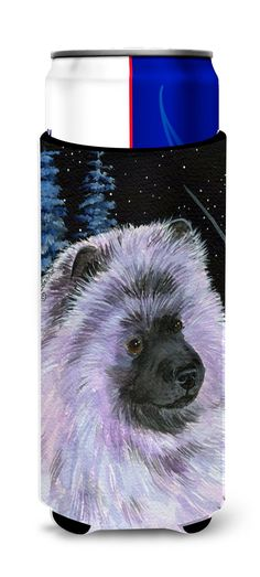 Starry Night Keeshond Ultra Beverage Insulators for slim cans SS8412MUK