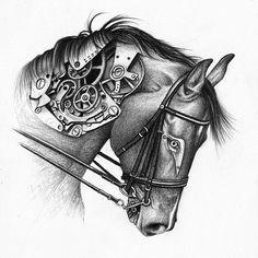 Mechanical Horse by A-D-I--N-U-G-R-O-H-O.deviantart.com on @DeviantArt