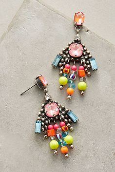 Crystal Stone Drop Earrings