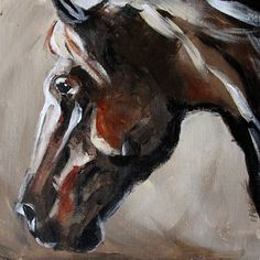 Summer Horse 9, 100 horse paintings in 100 Days from Texas Artist Laurie Pace, painting by artist Laurie Justus Pace