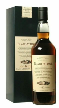Blair Athol 12 years old Scotch Whisky Bar Drinks, Alcoholic Drinks, Cocktails, Scotch Whisky, Cigars And Whiskey, Whiskey Bottle, Whisky Store, Whisky Cocktail, Bourbon