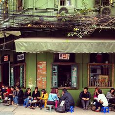 Hanoi Old Quarter | The Trendy Scene | Coffee houses abound in Hanoi, but the young, fashionable and well-heeled head to sidewalk cafés emphasizing vintage design, retro furniture and mandatory wifi | Vietnam