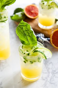 cucumber basil & citrus mocktail -- so yummy and refreshing, plus totally guilt-free.