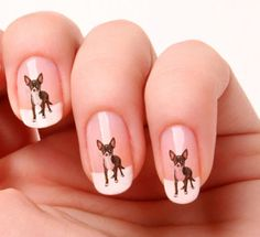 20 Nail Art Decals Transfers Stickers - Scottish Terrier Scottie Scotty Dog in Health & Beauty, Manicure & Pedicure, Nail Art Supplies Horse Nail Art, Horse Nails, Dog Nails, Dog Nail Art, French Nails, Spring Nails, Summer Nails, Nail Art Designs, Gel Nagel Design