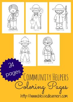 printable 24 pages of community helper coloring pages are going to help learners in