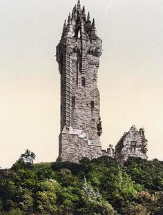 Wallace Statue I, Stirling, Scotland, 1890 and 1900...