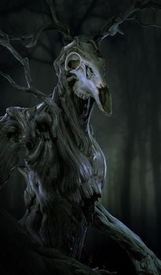 Role Playing Public Radio — quarkmaster: Spirit of the forest well, it. Monster Concept Art, Fantasy Monster, Monster Art, Tree Monster, Dark Creatures, Mythical Creatures Art, Fantasy Creatures, Arte Horror, Horror Art