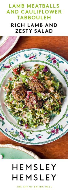We've turned a classic Middle Eastern tabbouleh into a gluten-free delight that will have most dinner guests (and children) fooled! The rich flavours of lamb work well with the zesty salad but beef is good too. This is a whole new way to enjoy cauliflower! From our bestselling cookbook The Art Of Eating Well, which includes recipes from the Channel 4 series Eating Well with Hemsley + Hemsley.