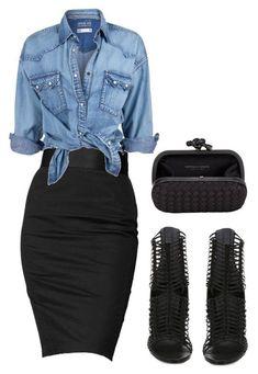 Trendy How To Wear Denim Shirt Outfits Chambray Dress Fashion Mode, Look Fashion, Winter Fashion, Fashion Outfits, Womens Fashion, Fashion Trends, Jeans Fashion, Classy Fashion, Black Women Fashion