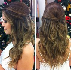22 Breathtaking Long Prom Hairstyles 2018 to Look Sweet And Stylish Prom Hairstyles For Long Hair, Bride Hairstyles, Cool Hairstyles, Hairstyles 2018, Bridal Hair Updo, Wedding Hair And Makeup, Hair Makeup, Bridesmaid Hair Down, Medium Hair Styles