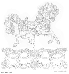 Carousel Drawings | ... carousels that embody the 'magic' that only an SFMBC gift can