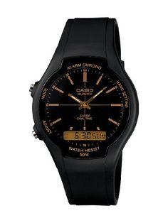 CASIO AW90H9EVEF - Reloj unisex de cuarzo, correa de resina color negro