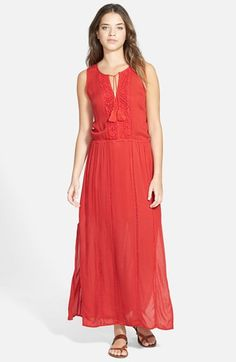 Hinge Lace Trim Maxi Dress available at #Nordstrom