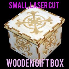 Picture of Small Laser Cut Wooden Box (2.5x2.5)