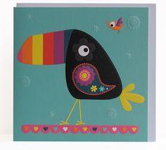 Le toucan illustré par Cynthia et Maude pour Les-papiers-de-Lucas. Carterie et Masking Tape.