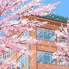 Japanese high school and cherry blossom blossom  by AnGoArt | Redbubble
