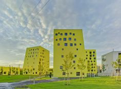 Image 1 of 34 from gallery of Fallow Land Project / PLAYstudio + YES studio. Photograph by David Frutos Famous Architecture, Interior Architecture, Social Housing, Building Exterior, Photo Studio, Landscape, Gallery, Design, Image