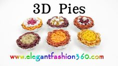 Rainbow Loom 3D Pies Charm - How to tutorial- Loom Bands by Elegant Fashion 360.