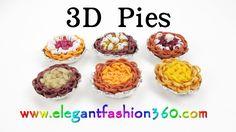 Rainbow Loom 3D Pies Charm - How to tutorial- Loom Bands by Elegant Fashion 360.
