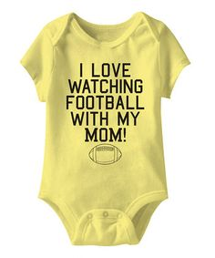 Banana 'Watching Football with Mom' Bodysuit - Infant
