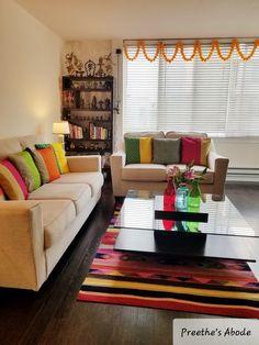 indian home decor Living Room Sofa Design, Home Room Design, Home Interior Design, Living Room Designs, Diy Home Decor Rustic, Diy Home Decor Bedroom, Home Decor Furniture, Bedroom Loft, Indian Room Decor