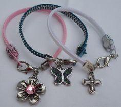 Reclaimed Zipper Bracelet With Charm by FamilyCraftingCorner, $7.00