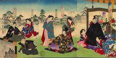 1885 - Chikanobu, Toyohara -  The first three Shoguns of Tokugawa Dynasty - Japanese Art Open Database