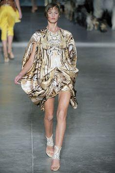 Alexander McQueen - Spring Summer 2009 - Wood printed dress
