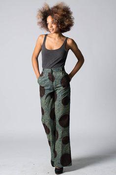 Straight leg trousers, Wax print ~African fashion, Ankara, kitenge, African women dresses, African prints, African men's fashion, Nigerian style, Ghanaian fashion ~DKK