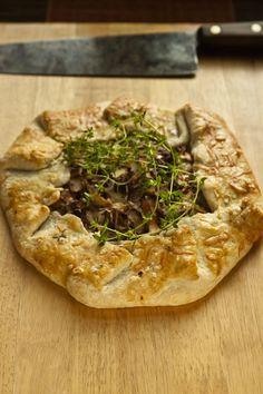 Rustic Wild Mushroom Tart with Chanterelle Mushrooms