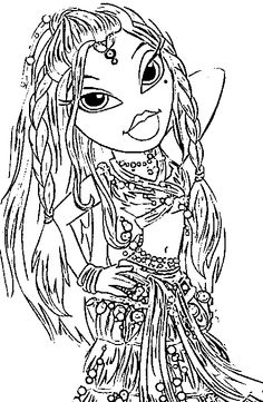 monster high bratz coloring pages - photo#43