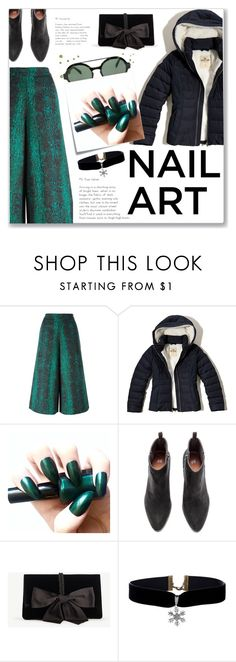 """""""Deep Sea Green"""" by nity01 ❤ liked on Polyvore featuring Manoush, Hollister Co., Post-It, Ann Taylor and Italia Independent"""