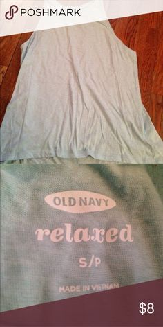 """Mint green tank top This is cute to layer or to wear on its own! It has no holes or stains, it comes from a smoke free environment! I ship Monday-Friday. """"No trades, holds, or modeling. And no sales outside poshmark."""" Price is firm Old Navy Tops Tank Tops"""
