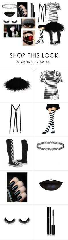 """""""Laughing Jack cosplay"""" by kalenclass on Polyvore featuring Bassike, American Apparel, Converse, Chanel, women's clothing, women's fashion, women, female, woman and misses"""