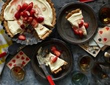Strawberry Desserts with Cards