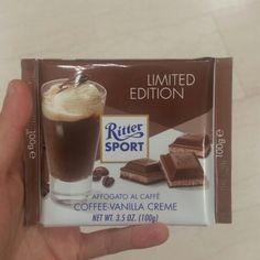 Mamma mia che bontà questo Ritter sport al caffè e crema alla vaniglia