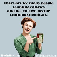 Such a true statement for the people of today. Learn that calories are not the…