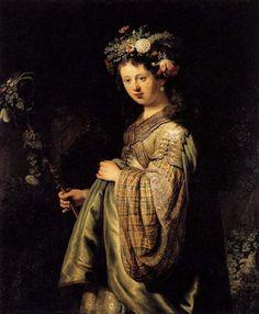 Rembrandt van Rijn - Saskia als Flora