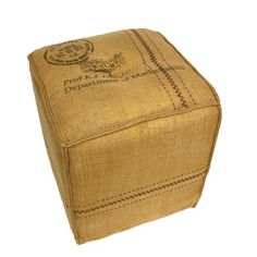 I pinned this Burlap Sack Ottoman from the Verdant Collection event at Joss & Main!