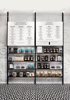 Boutique interior design & architecture studio specializing in retail, hospitality and food & beverage Visual Merchandising, Deco Restaurant, Restaurant Design, Retail Store Design, Retail Shop, Menu Design, Cafe Design, Menu Board Design, Boutique Interior Design