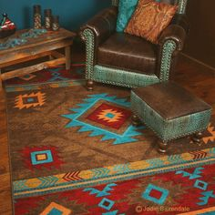 Union Rustic Lachine Red Blue Area Rug Area Rugs Rugs