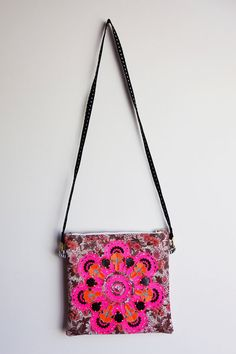 Vintage floral fabric zip purse with detachable shoulder strap by dAKOTA rAE dUST Vintage Floral Fabric, Clutch Bags, Shoulder Strap, Embellishments, Jewels, Zip, Purses, Pattern, Handmade