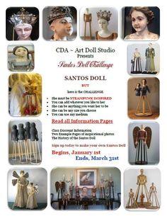 "CDA- Art Doll Studio 1Q 2014 ""A Santos Doll Challenge"""