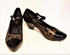 NEW Dansko Bonnie 9.5-10/40 Mary Jane Pump Coffee Swirl Black Patent Buckle Work #Dansko #MaryJanes #WeartoWork