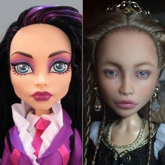До и после. Куклу можно будет увидеть на выставке «Модна лялька» в Киеве 20-22 октября, стенд М-26 / before and after #ooakdoll #customdoll #repaintdoll #doll #custom #ooak #art #artdoll #monsterhigh #bloodgood #olgakamenetskaya