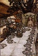 "New artwork for sale! - "" Rackham Arthur Alice In Wonderland A Mad Tea Party by Arthur Rackham "" - http://ift.tt/2nFJSZ3"