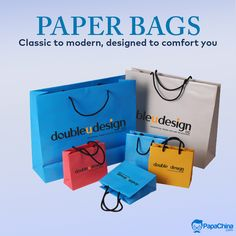 Classic to modern, designed to comfort you. #paperbags #bags #promotionalbags #ecofriendly   #environmental #promotion #Marketing #Advertising #giveaways #gift #events #wholesale #branding #brand Paper Bags Wholesale, Promotion Marketing, Print On Paper Bags, Promotional Bags, Picnic Bag, Luggage Bags, Giveaways, Advertising, Branding